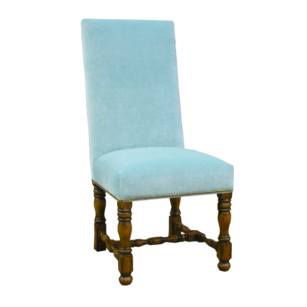 Custom English Upholstered Side Chair