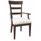15001/U Montage Ladderback Upholstered Arm Chair