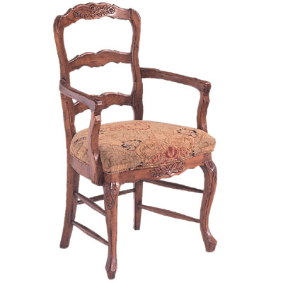 91923/U Ladderback Upholstered Seat Arm Chair