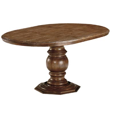 54801 Pedestal with Wood Top