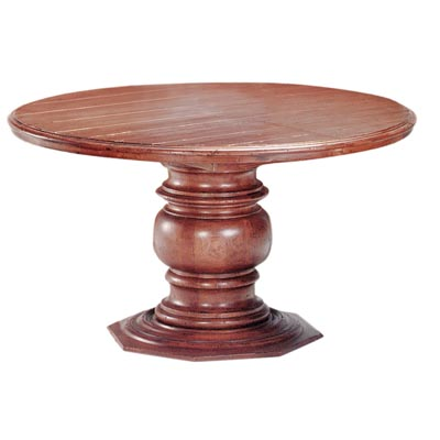 55803 Pedestal with Wood Top