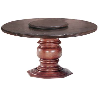 55806 Pedestal with Round Plank Top