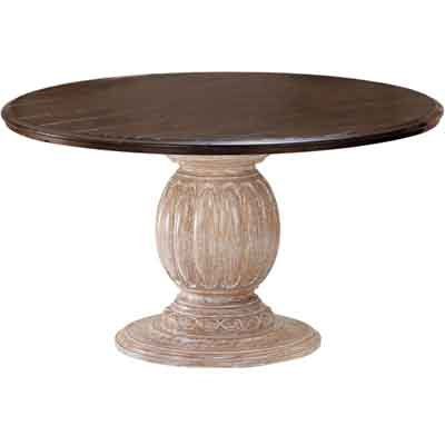 64003 Carved Pedestal with Wood Top