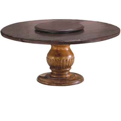66005 Carved Pedestal with Wood Top