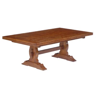 190000DT Trestle Draw Top Dining Table