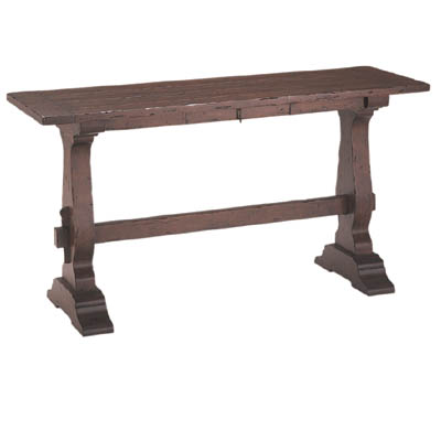 192166 Trestle Console Table with Drawer
