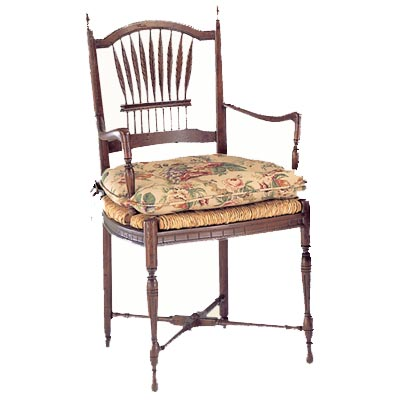 10401 Wheat Rush Seat Arm Chair