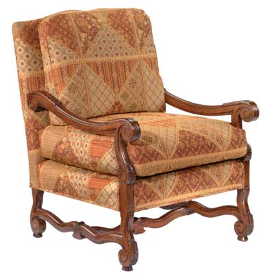 13411 Carved Provence Lounge Chair