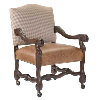 13436 Carved Provence Game Chair