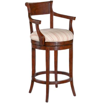 14630/U Veranda Upholstered Swivel Barstool with Arms (Bar Height)