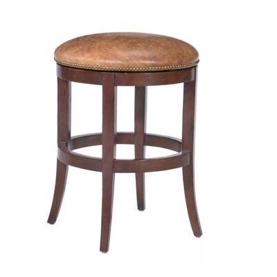 14641 Veranda Backless Upholstered Swivel Barstool (Bar Height)