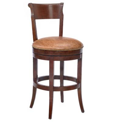 14651/U Veranda Upholstered Swivel Barstool (Bar Height)