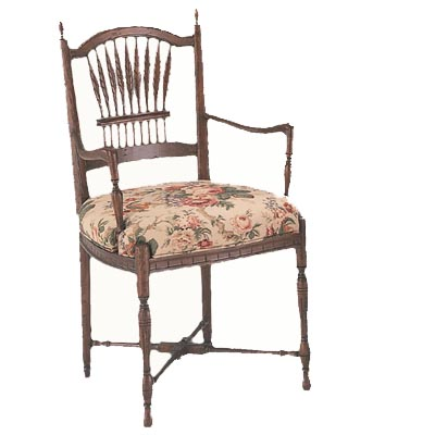 10401/U Wheat Upholstered Seat Arm Chair