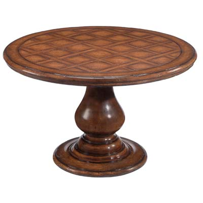 58248 Country English Pedestal Table