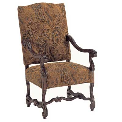 13401 Carved Provence Arm Chair