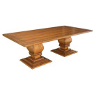 Custom Country English Double Pedestal Table