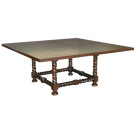 Custom Sorrento Square Top Pedestal Table