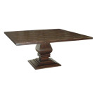 Custom Country English Square Pedestal Table with Woven Parquet Top