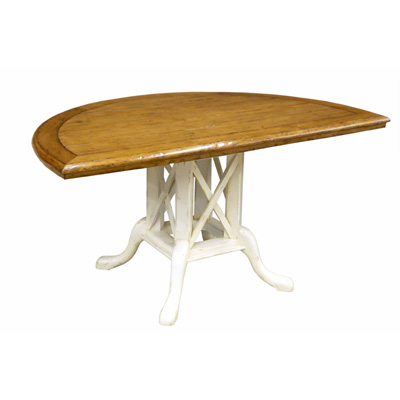 Custom Half Oval Pedestal Table