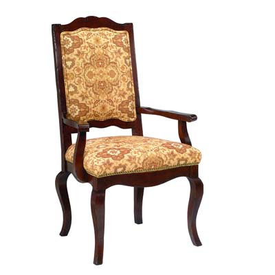 13811 Ladderback Upholstered Arm Chair