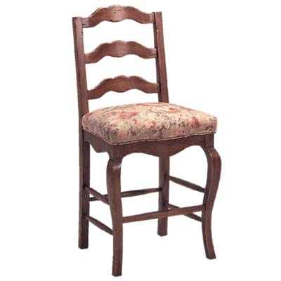 13824/U Ladderback Upholstered Seat Barstool (Counter Height)