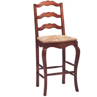 13830 Ladderback Rush Seat Barstool (Bar Height)