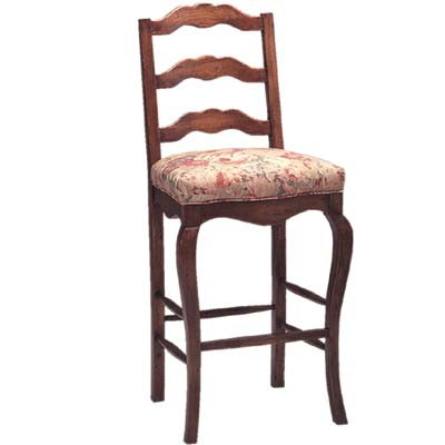 13830/U Ladderback Upholstered Seat Barstool (Bar Height)