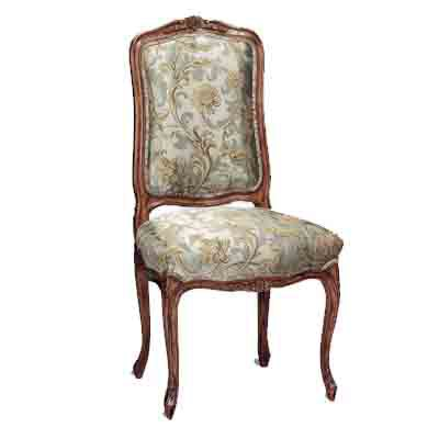 42544 Carved Upholstered Side Chair