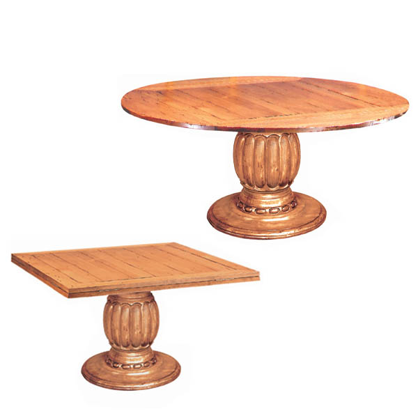 64039 Square to Round Dining Table