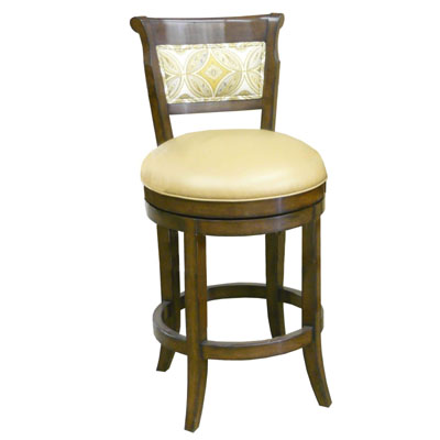 14670 Veranda Upholstered Back Swivel Barstool (Bar Height)