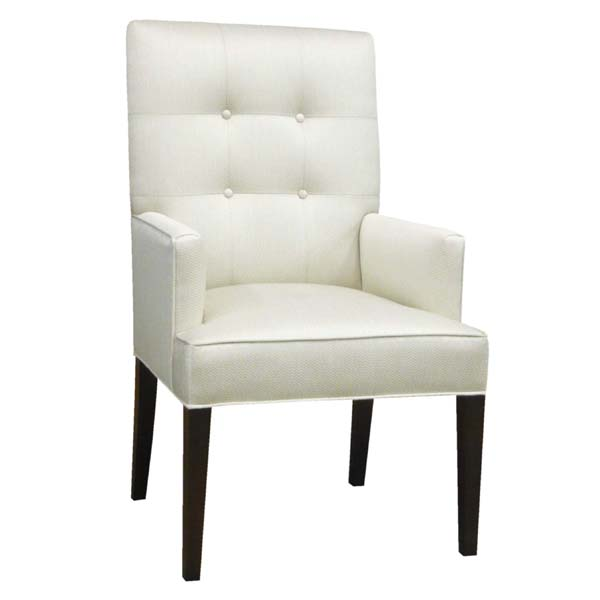 15211-BG Tufted Back Arm Chair w/Box Seat