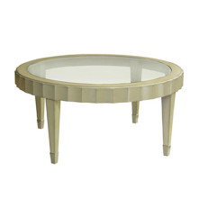 184200-G Beverly Cocktail Table with Glass Top