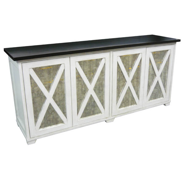 38422 Montage Buffet Base with Antique Mirror
