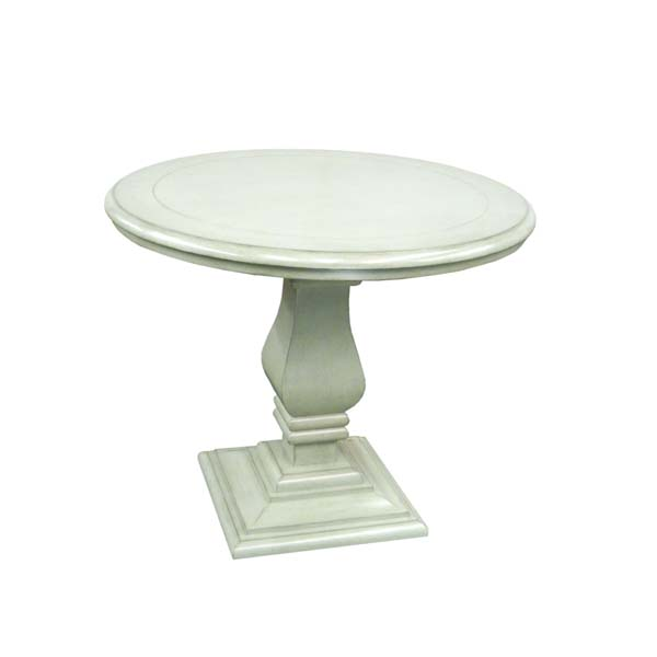 59136 Pedestal Table with Plain Wood Top