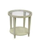 162400 Mercer End Table with Glass Top