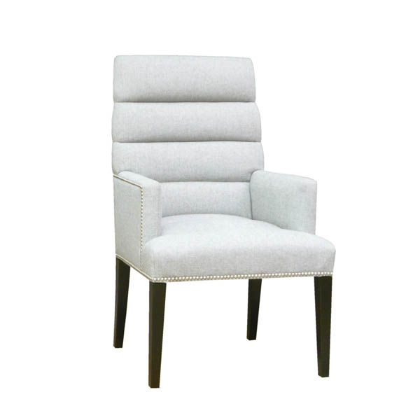 15221 H Tapered Back Channeled Arm Chair