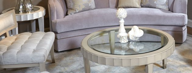 Beverly Cocktail Table with Glass Top
