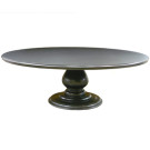 Custom Pedestal Table w/ Wood Top
