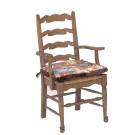 51923 Country English Rush Seat Arm Chair