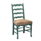 51919/u Country English Upholstered Seat Side Chair