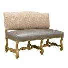 13413 Carved Provence Banquette