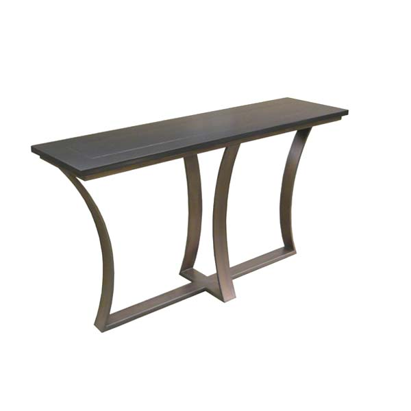 101860 Iron Base Console Table + Wood Top