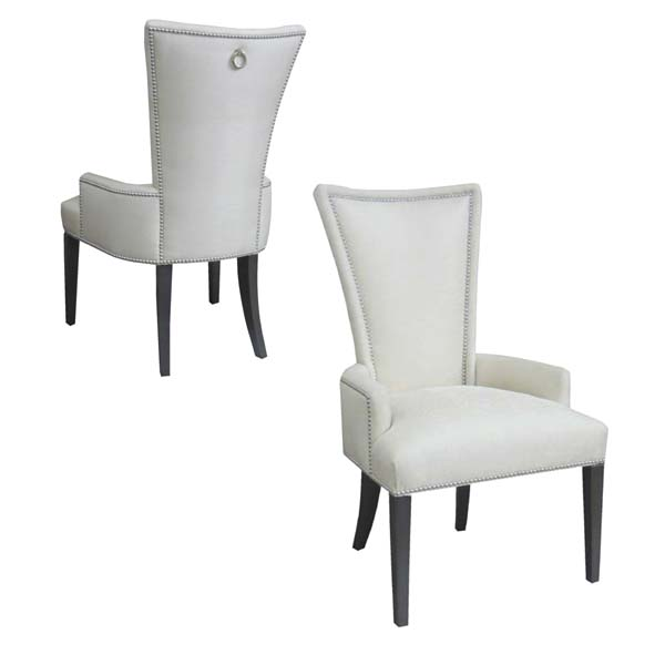 15501-R Upholstered Arm Chair + Ring Pull