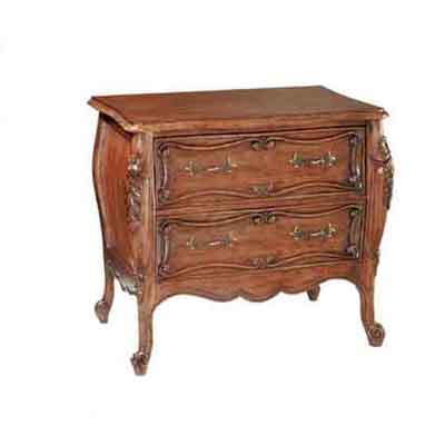 42032 Carved French Bombe Nightstand
