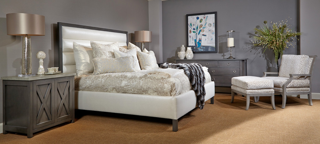 King Bed with Horizontal Panel- Tufting