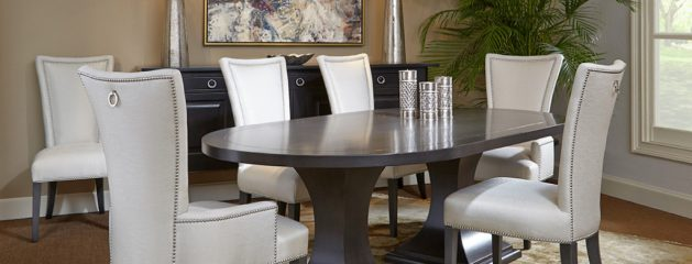 Double Pedestal Oval Dining Set