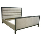 Custom King Bed with Horizontal Panel- Tufting