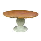 Custom Carved Pedestal with Copper Top