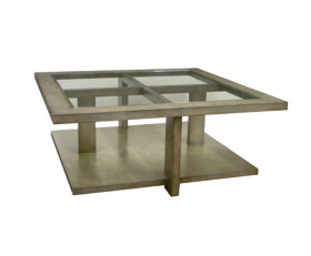 394848-G Cocktail Table + Glass Top