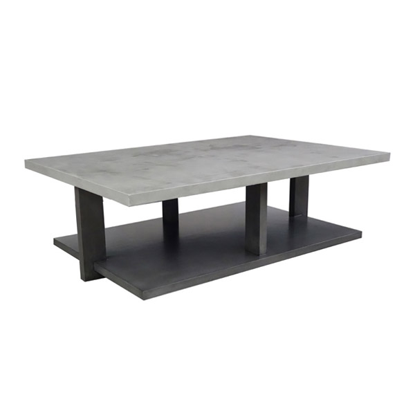 393654 Moderne Cocktail Table + Concrete Finish Top